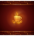 abstract background with coffee cup vector image