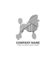 Poodle Line Silhouette Logo Icon vector image