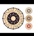 Zodiacal circle vector image vector image