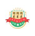 casino logo colorful gambling vintage emblem with vector image