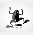 frog silhouette black and white logo vector image