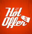 Hot Offer poster vector image