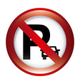 no parking design vector image