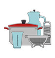 set of kitchen containers vector image