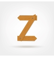 Wooden Boards Letter Z vector image