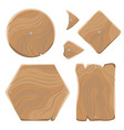 wooden planks of various shapes set vector image