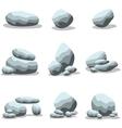 Cartoon rock set collection of vector image