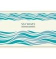 Seamless patterns with stylized waves vector image vector image