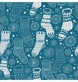 seamless hand drawn socks vector image vector image