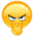 pointing to his eyes emoticon vector image