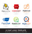 chat logo template design vector image
