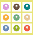 flat icons halloween set of skull candy concept on vector image