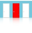 Doors on a blue wall vector image
