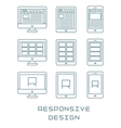 Line icons set flat design responsive web vector image