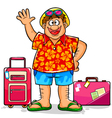 happy tourist vector image vector image