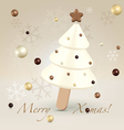 White christmas postcard greetings vector