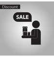 black and white style icon human gifts discounts vector image