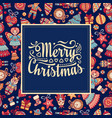 christmas card holiday ornament vector image