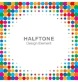 Colorful Bright Abstract Halftone Frame vector image