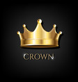 crown with black background vector image