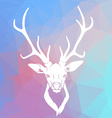 Deer head on triangle background vector image