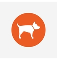 Dog sign icon Pets symbol vector image