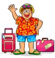 happy tourist vector image