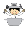 Little chef boy vector image