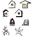 logo elements house vector image