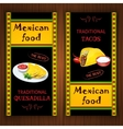 Mexican food banners vector image