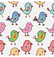 Seamless pattern cartoon birds vector image
