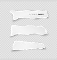 set of white ripped pieces of paper on vector image