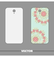 Phone With Ornament Roses vector image