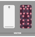 Phone Cover Doodle Flowers vector image