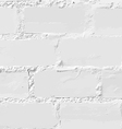 White brick wall seamless vector image vector image