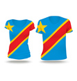 Flag shirt design of Congo DRC vector image