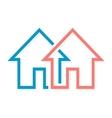 Real estate logo or icon vector image