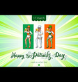St Patricks Day design elements set - girl with vector image