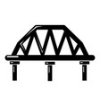 arched train bridge icon simple style vector image