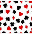 Cards suits pattern vector image