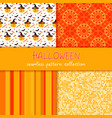 festive seamless pattern collection set of vector image