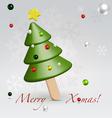 Green Christmas ice cream postcard vector image