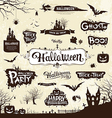 Happy Halloween day silhouette collections vector image