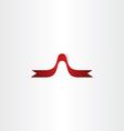 red decorative ribbon icon design element vector image