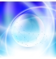 Sphere on blue background in rays of light vector image