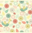 summerly pattern with birds vector image