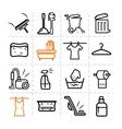 washing icons vector image