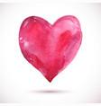 watercolor-heart-pink vector image