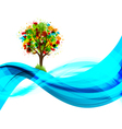 Eco tree background vector image vector image