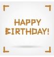 Wooden Boards Happy Birthday vector image vector image